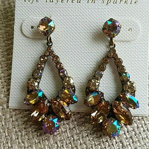 Sorrelli Earrings Champagne Aurora Borealis